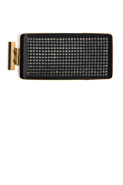Lanvin Satin and Strass Clutch, $2,500