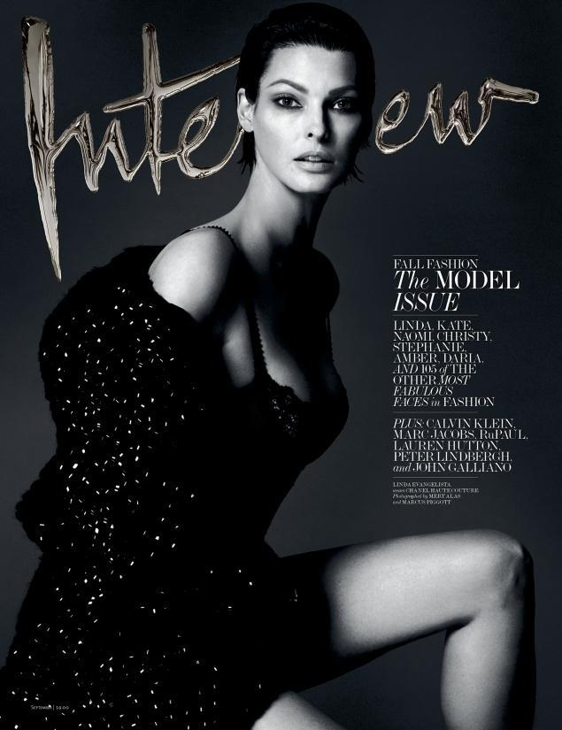 Linda Evangelista by Mert Alas and Marcus Piggott for Interview September 2013