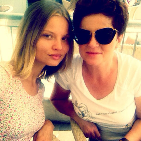 Magdalena Frackowiak  Keen social networker Magdalena shared a picture alongside her mother