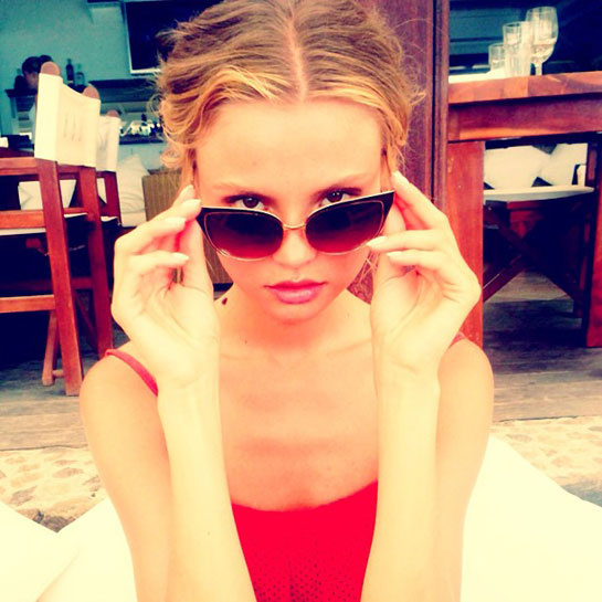 Magdalena Frackowiak  Currently shooting for the new Victoria's Secret collection on the Caribbean island of St Barts