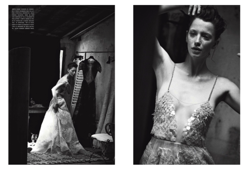 Milagros Schmoll by Peter Lindbergh for Vogue Italia September 2013 Haute Couture Supplement