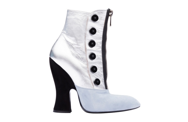 Miu Miu  Leather and calfskin ankle boots, €690