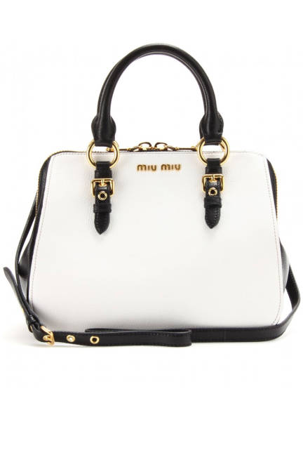 Miu Miu Two-Tone Leather Tote, $1,450