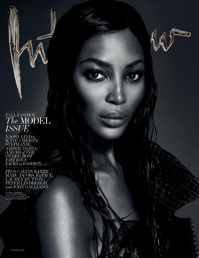 Naomi Campbell by Mert Alas and Marcus Piggott for Interview September 2013