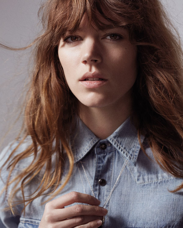 Pieces from Mother Denim's capsule collection with model Freja Beha Erichsen