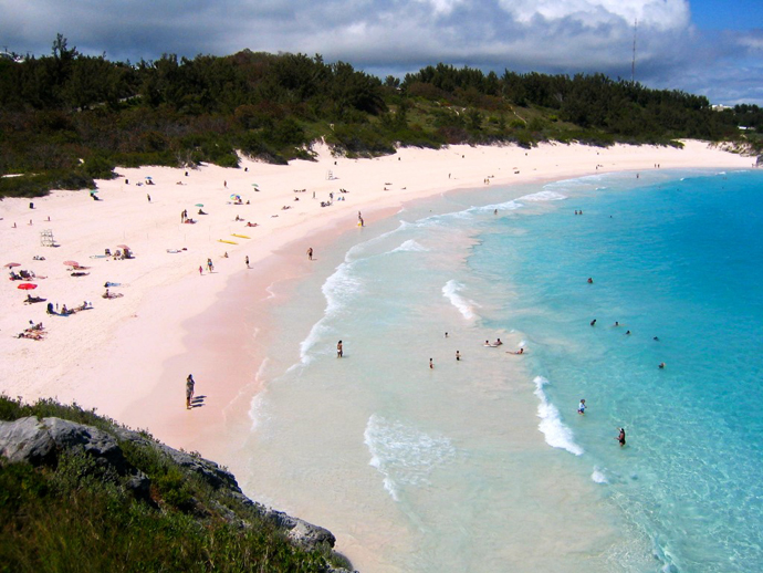 Pink beaches, Bermuda