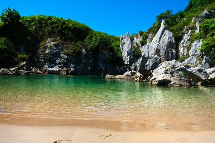 Playa de Gulpiyuri, Asturias, Spain