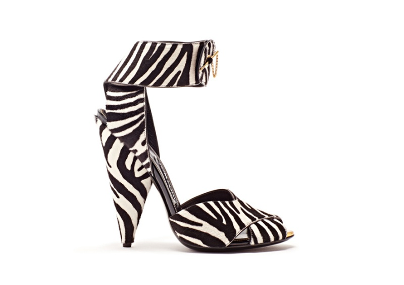 Tom Ford  Zebra print ponyskin sandals, €890.