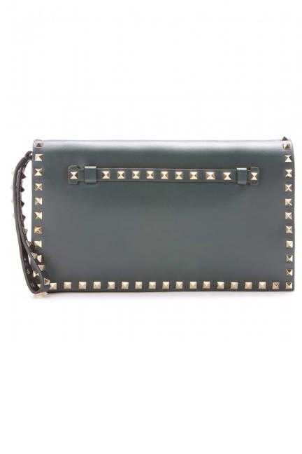 Valentino Rockstud Leather Clutch, $1,495