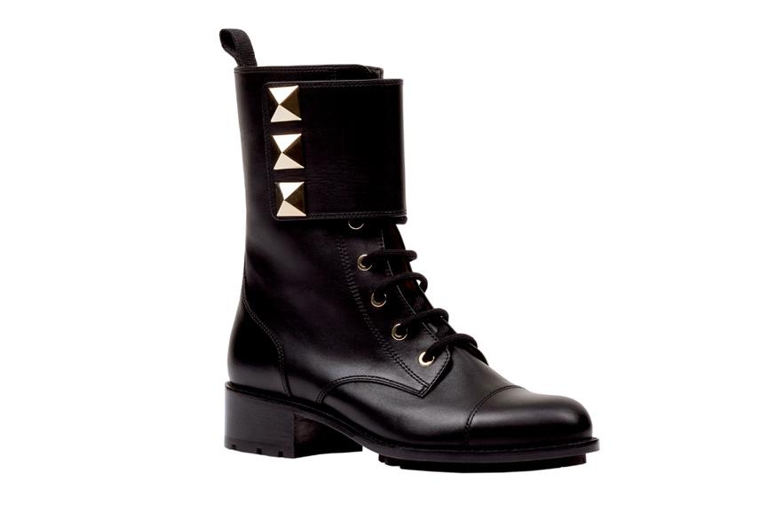Valentino Studded biker boots, price on application.