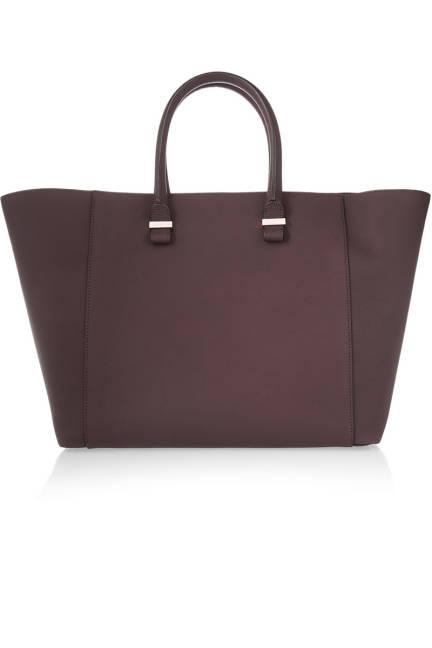 Victoria Beckham Liberty Matte-Leather Shopper, $1,350