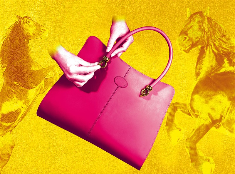 """Pop Touch"" by David LaChapelle for Tod's Sella bag"