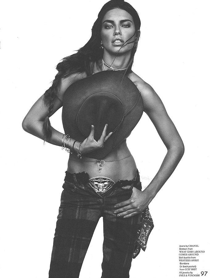 Adriana Lima by Inez & Vinoodh for GARAGE #5 Fall/Winter 2013.14