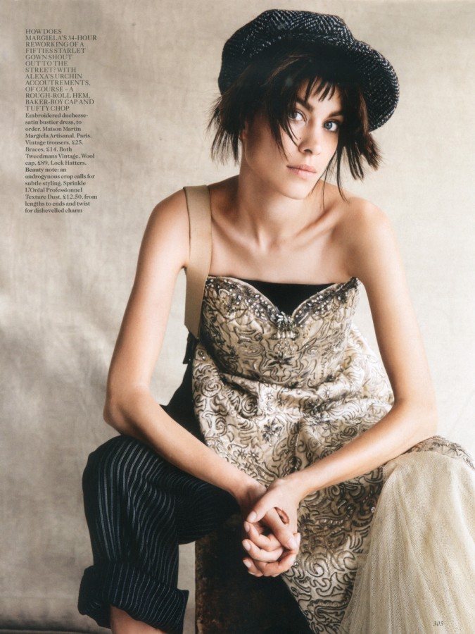 Alexa Chung by Patrick Demarchelier for Vogue Uk October 2013