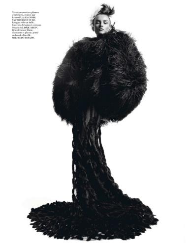 Andreea Diaconu By Inez & Vinoodh For Vogue Paris October 2013