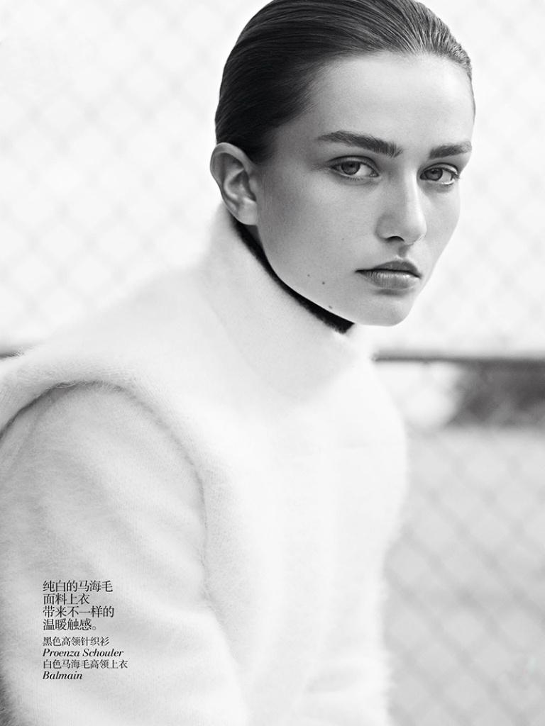 Andreea Diaconu By Karim Sadli For Vogue China October 2013