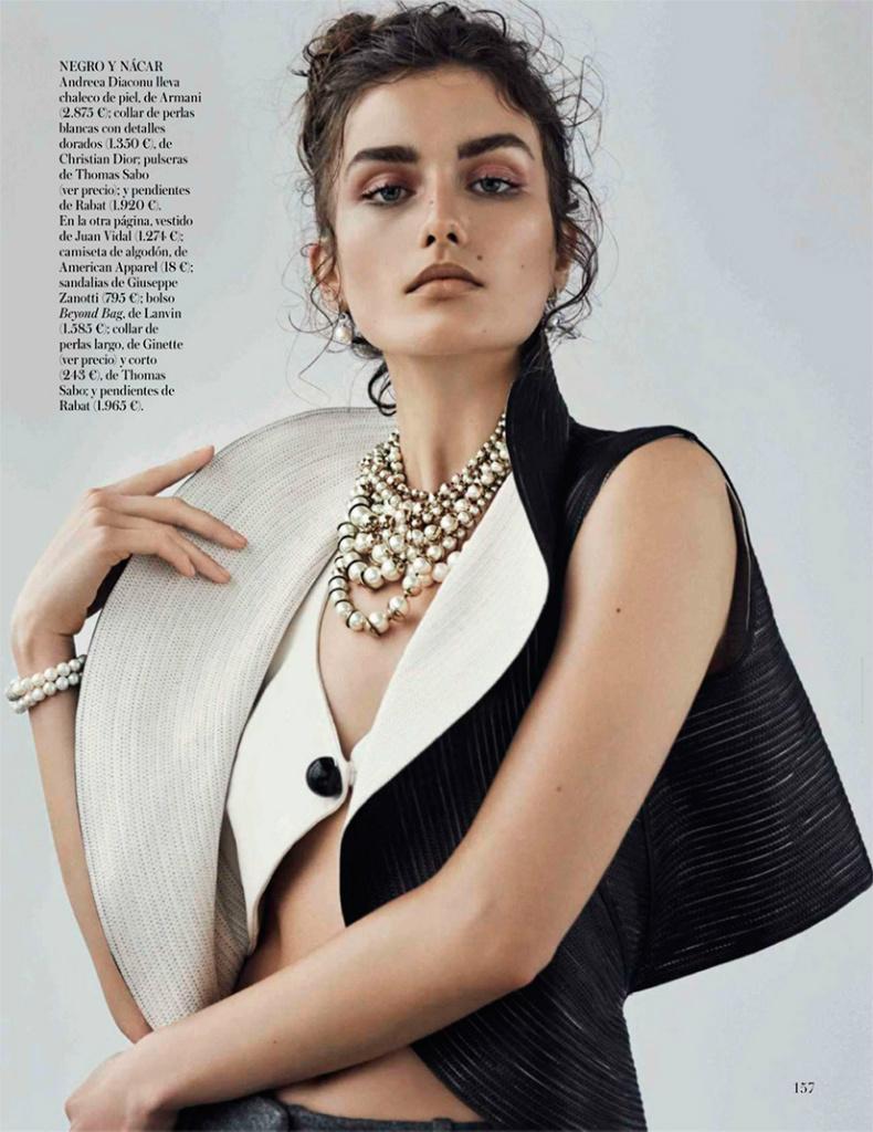 Andreea Diaconu By Mariano Vivanco For Vogue Spain October 2013
