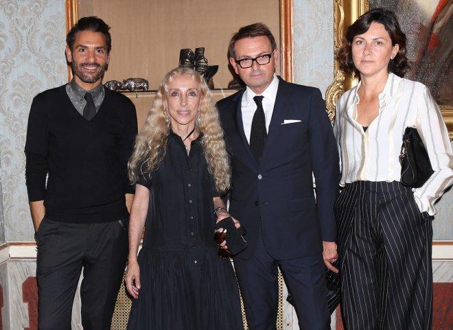 Angelo Ruggeri, Franca Sozzani, Christophe Melard and Susanna Nicoletti