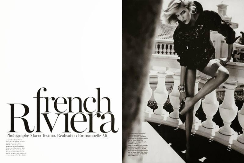 Anja Rubik By Mario Testino For Vogue Paris October 2013