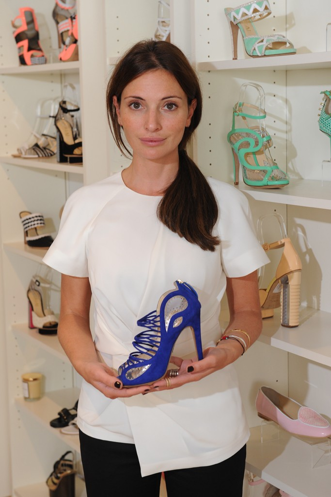 Aperlai designer Alessandra Lanvin showed her inventive and distinct shoe line in New York for the first time, aiming to get more exposure in the American market. Photo by Steve Eichner