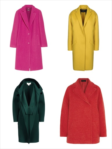 Best Colorful Coats For Fall 2013