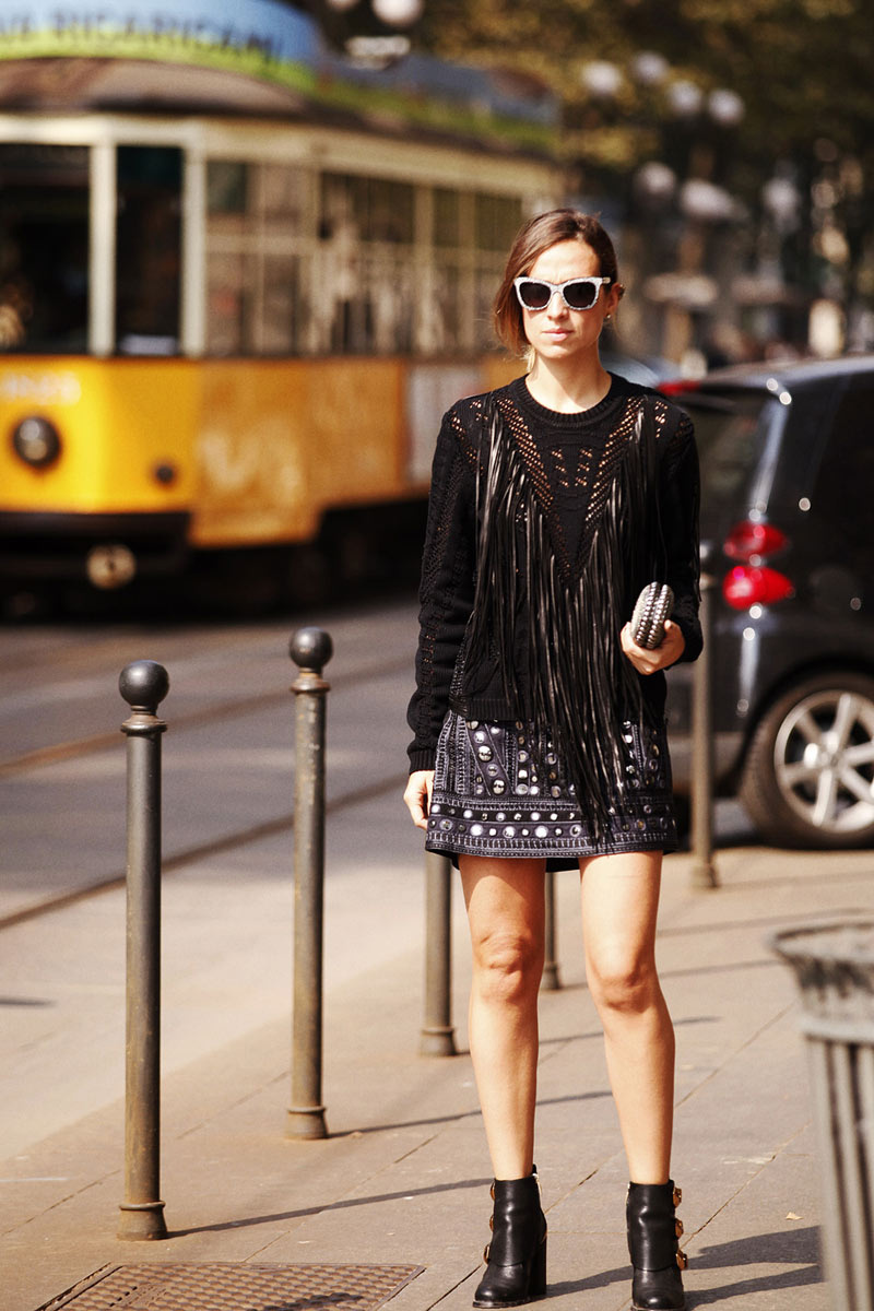 Best Street Style Looks at Milan Fashion Week Spring/Summer 2014