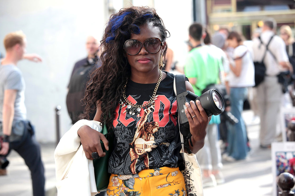 Stylish black beauties on the streets of Paris Fashion Week S/S 2014 photo by Stefano Coletti