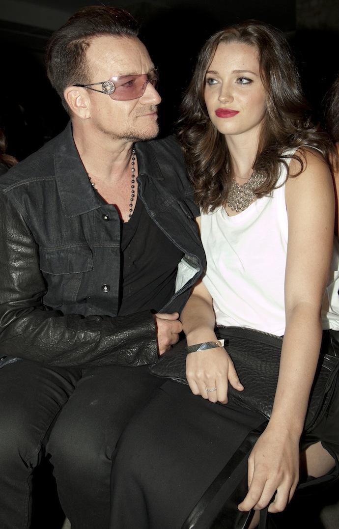 Jordan Hewson and Bono