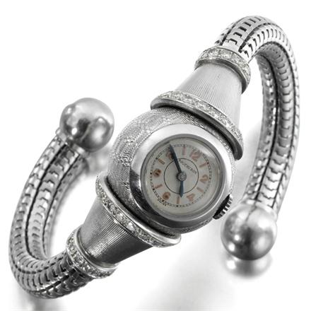 Boucheron, Paris, 1937 - Platinum and diamond wristwatch. Photo courtesy Siegelson