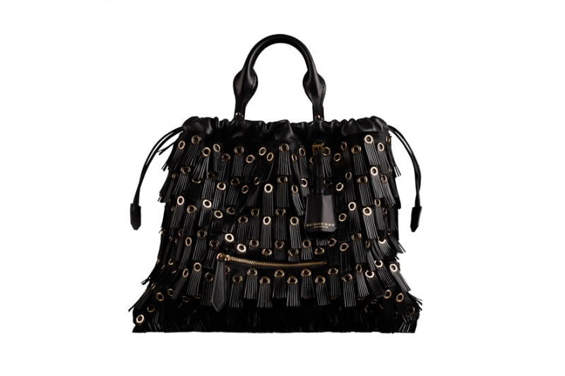 Burberry Prorsum  Ponyskin, leather fringing and metal The Big Crush bag, €2195