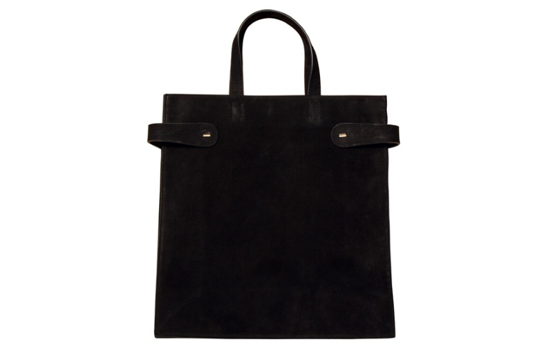 Calvin Klein Collection  Black velour calfskin bag, 1450 euros