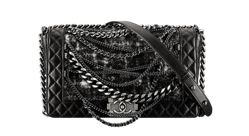 Chanel  Padded leather and tweed Boy bag with chains, €3190