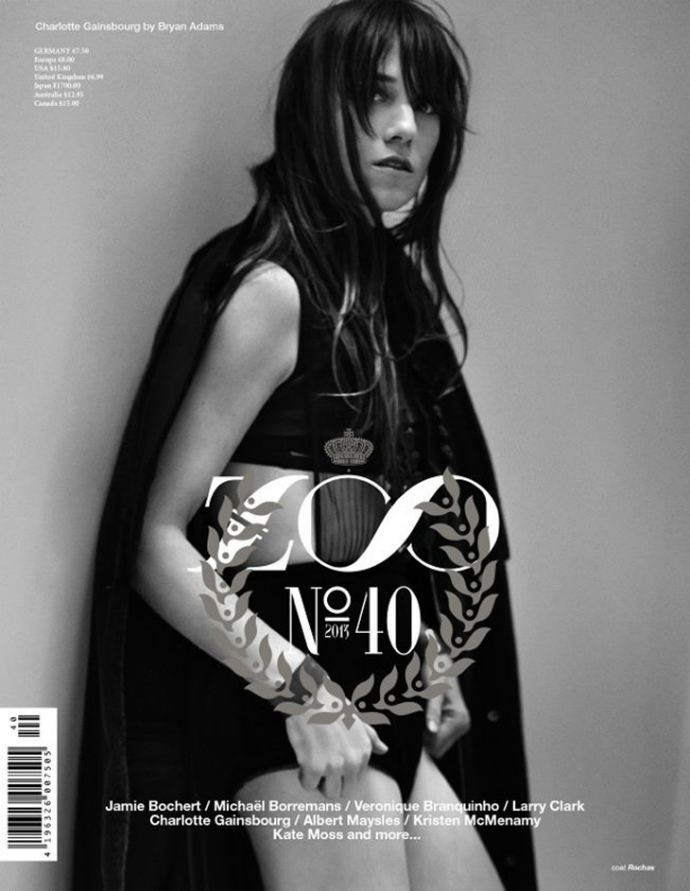 CHARLOTTE GAINSBOURG BY BRYAN ADAMS FOR ZOO MAGAZINE FALL 2013