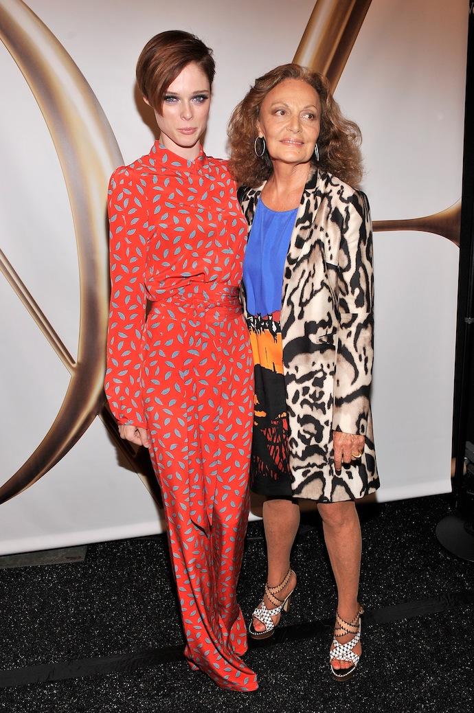 Coco Rocha and Diane von Furstenberg