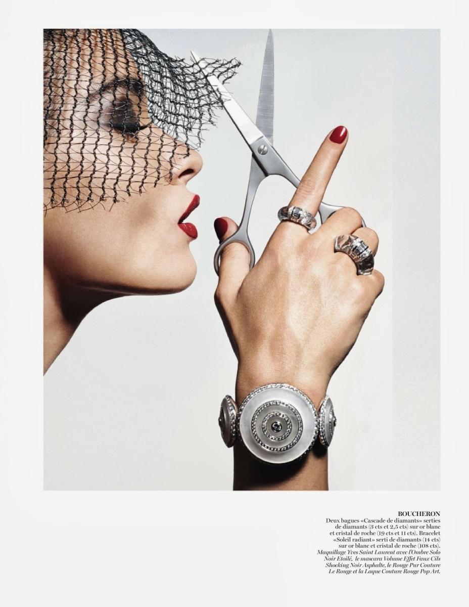 Crystal Renn by Thomas Lagrange for Vogue Paris October 2013