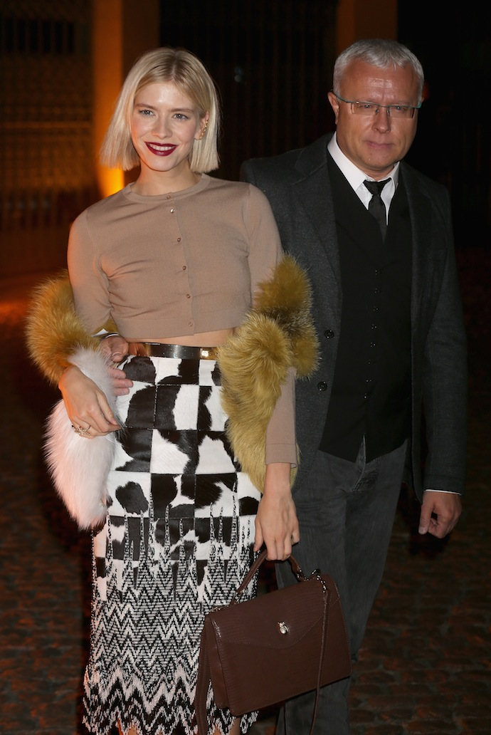 Elena Perminova with her husband