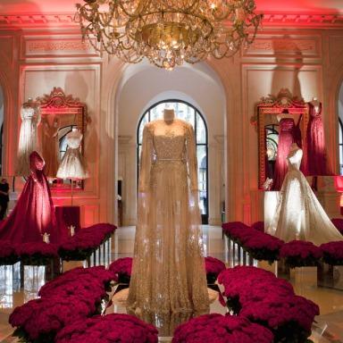 Elie Saab Exhibition At George V Hotel in Paris