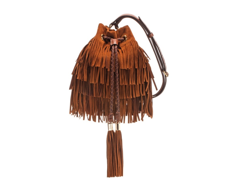 Emilio Pucci  Fringed velour calfskin bag