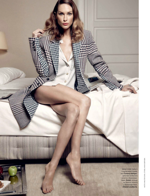 Erin Wasson by Walter Chin for Tatler Russia October 2013
