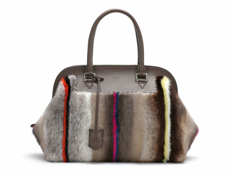 Fendi  Leather and striped mink fur Adele bag, from the Selleria line, €9140