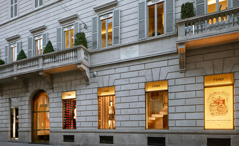 'Making Dreams' coincides with the opening of Fendi's palatial new store, designed by Gwenaël Nicolas, on nearby Via Montenapoleone