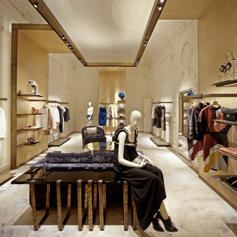 The two-storey boutique is housed in the 16th century Palazzo Carcassola-Grandi