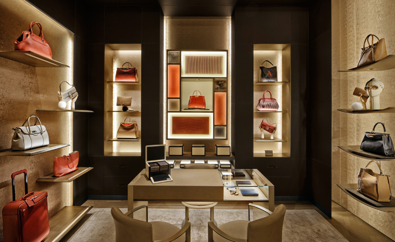 The Made-to-Order space, where clients can personalise the Anna and Adele styles of the Selleria line, in addition to the Peekaboo and Baguette bags