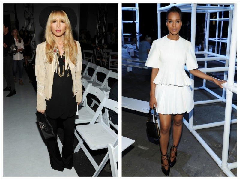 Rachel Zoe at Altuzarra an Kery Washington at Alexander Wang
