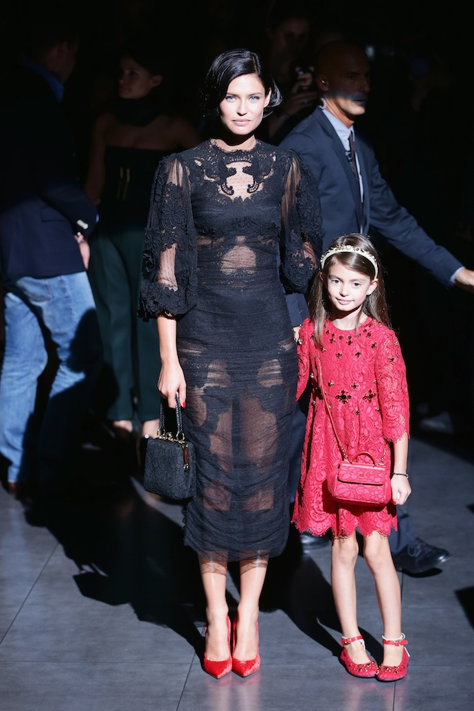 Bianca Balti, along with six-year-old daughter Matilda