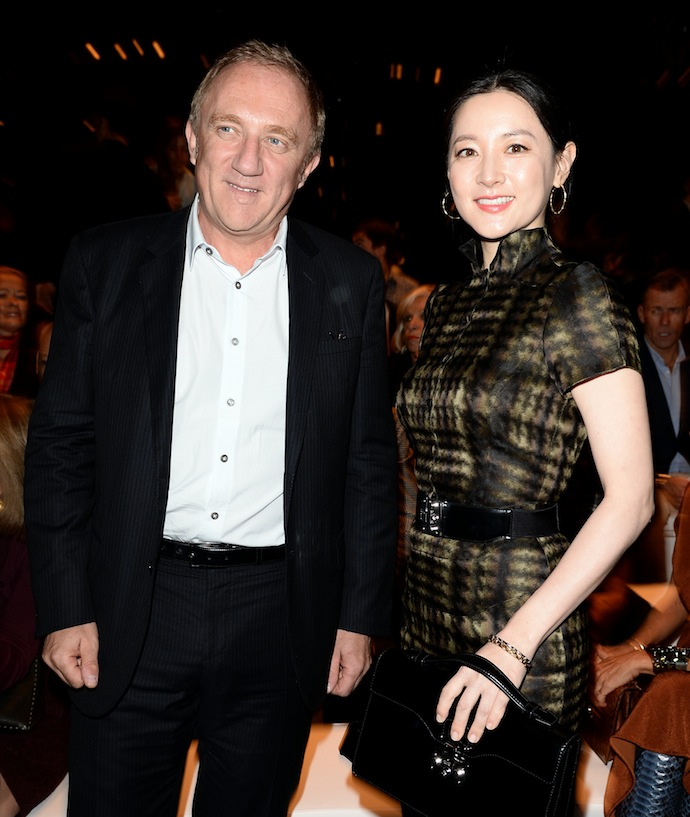 Francois Henri Pinault and Lee Young-ae
