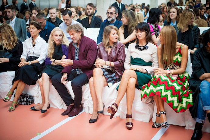 Front Row at Marni spring:summer 2014 collection