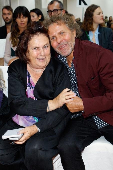 Suzy Menkes and Renzo Rosso.