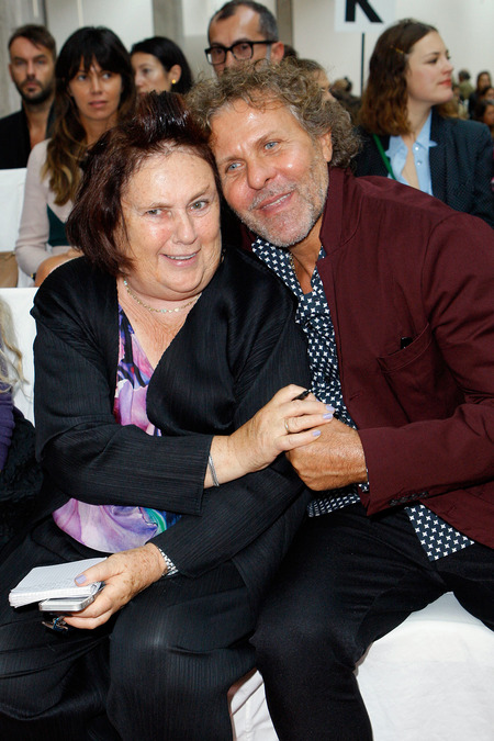 Suzy Menkes and Renzo Rosso.