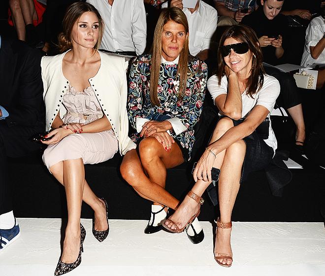 Front Row at Nina Ricci Spring/Summer 2014 collection
